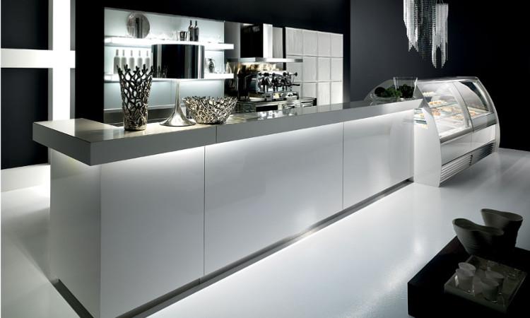 Arredamento Bar Bianco.Banco Bar Modern Con Frontale In Legno Wenge Dbanchibar
