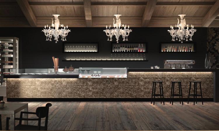 Banco bar con modulo self-service serie Business bar