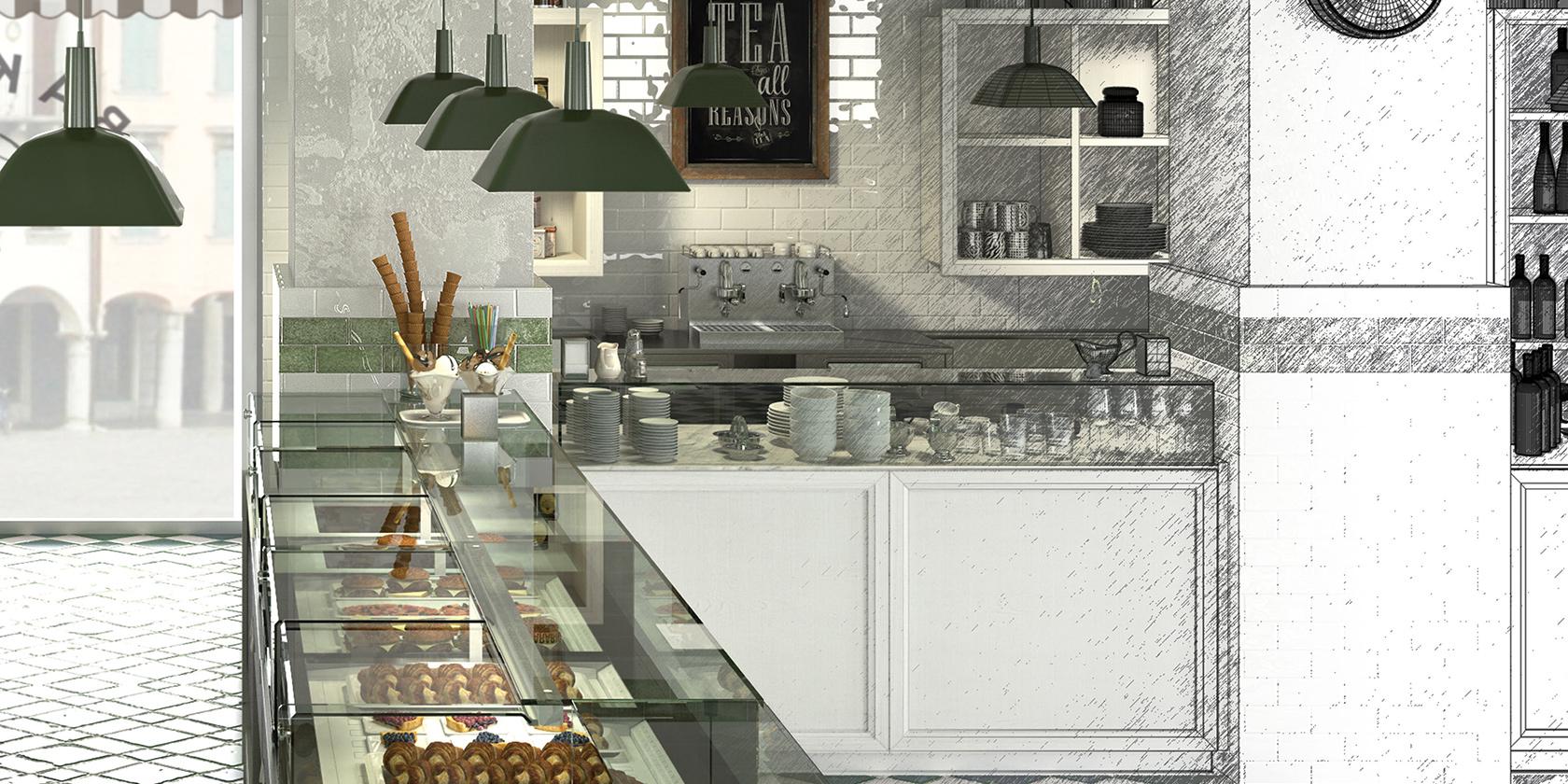 Conosciuto Banco bar in stile shabby chic modello #040 | dsedute UA29