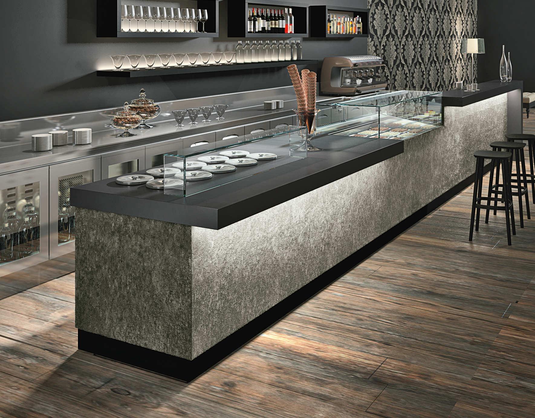 Banco bar con modulo self-service serie Business bar  dbanchibar