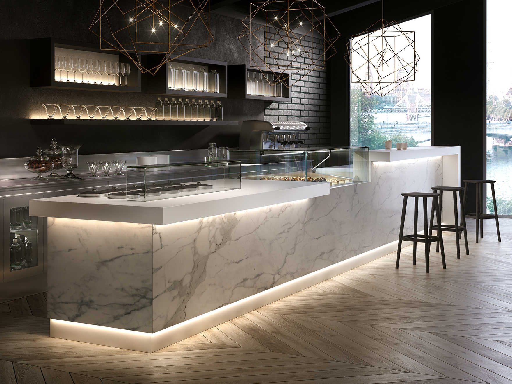 Super Banco bar con modulo self-service serie Business bar | dbanchibar OG13
