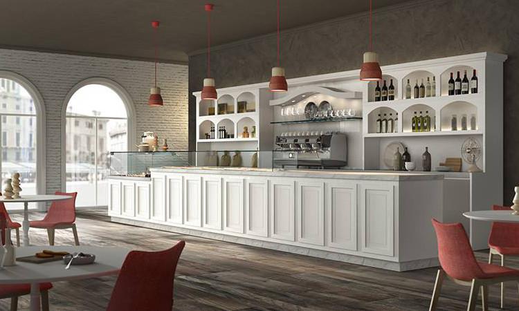 Bancone bar in stile liberty modello Epoque