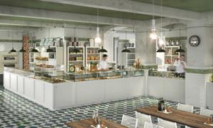 Banco bar in stile shabby chic modello #040