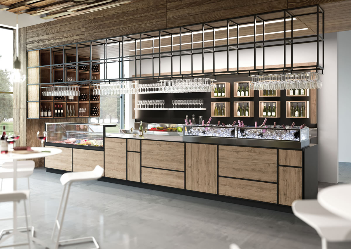 Banco bar madison dagli elementi industrial chic dbanchibar for Industrial arredamento