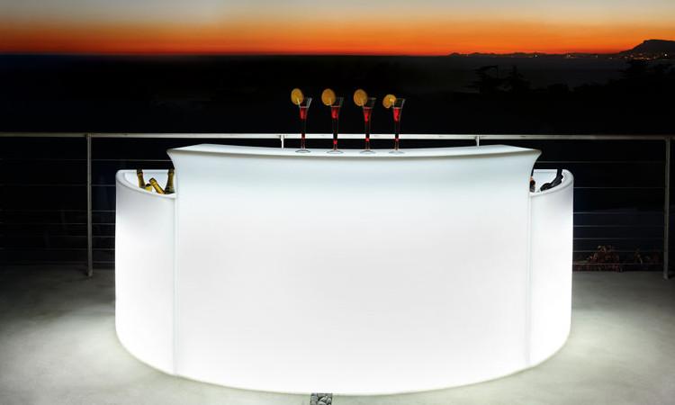 Break Bar, banco bar luminoso da esterno