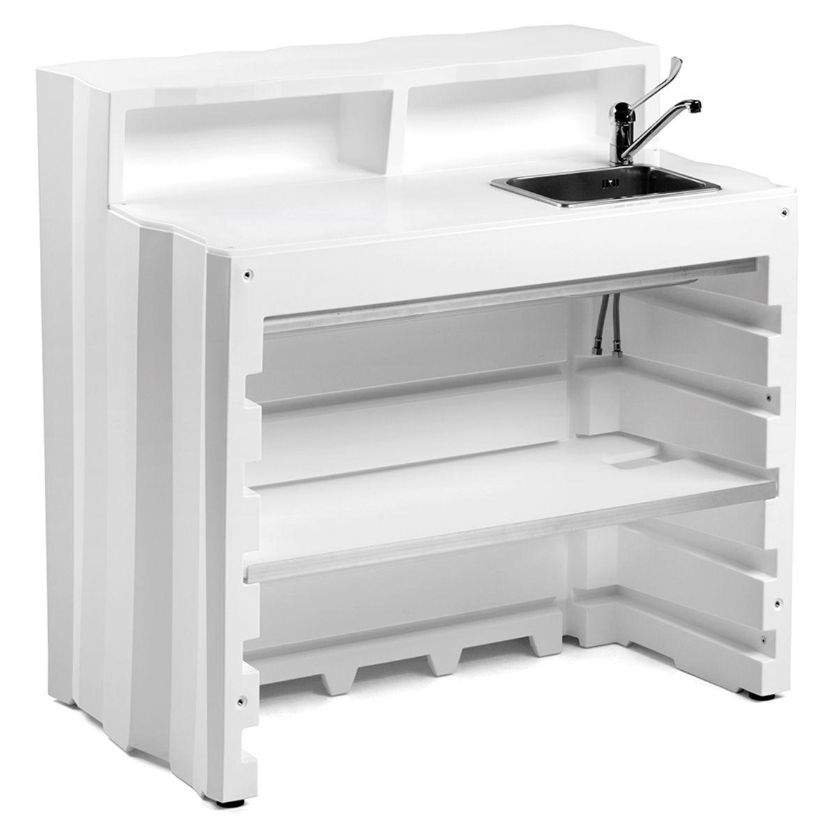 Bancone Bar Da Giardino bancone bar modulare da esterno modello frozen | arredo bar