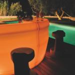 Bancone bar da esterno in polietilene modello Pemba
