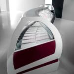 Visual, vetrina pasticceria refrigerate, piano inclinato