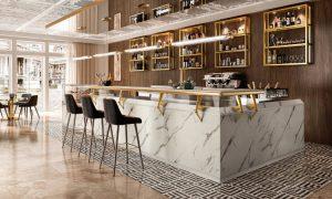 Harris, banco bar modulabile dal design classico